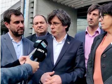 Carles Puigdemont, a las puertas del Parlamento Europeo