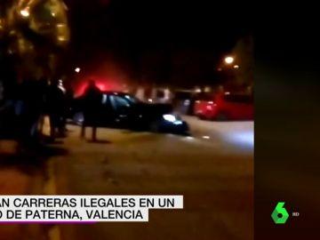 Un coche impacta brutalmente contra una palmera mientras participaba en una carrera ilegal en Paterna, Valencia