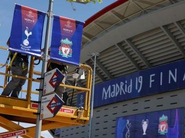 El Metropolitano se prepara para la final de la Champions League