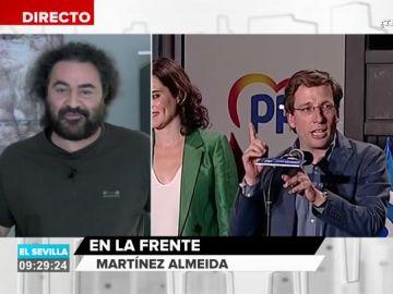 """El Sevilla, sobre los 'me gusta' de Martínez-Almeida en Twitter: """"El cambio que va a pegar Madrid, sale Carmena y entra este hombre"""""""