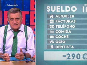 Estas son las verdaderas cuentas de un español mileurista que el Banco de España ignora