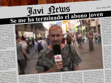 """Informe Mensual recoge los titulares del mes de los españoles: """"Cumplo 26 y estoy cabreadísimo porque me sube el abono transporte"""""""