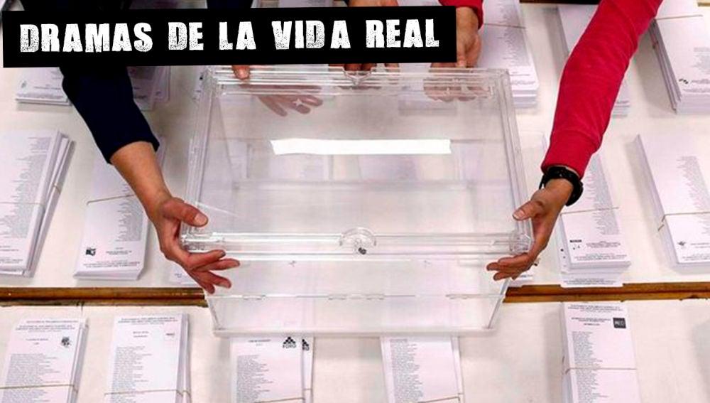 Urnas en un colegio electoral