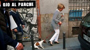 Esperanza Aguirre con 'Pecas'