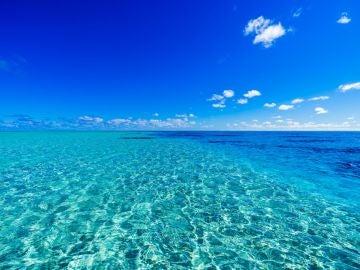 Mar turquesa en las Islas Cook