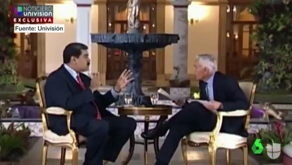 Nicolás Maduro y el periodista Jorge Ramos