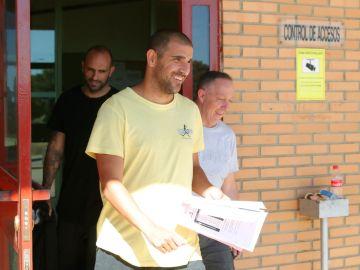 Carlos Aranda, a su salida de prisión
