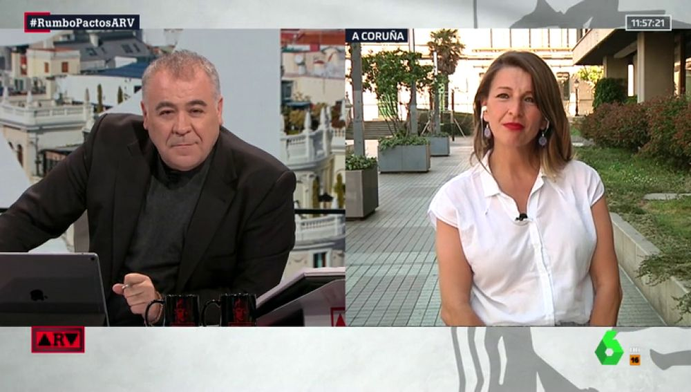 """Yolanda Díaz (Unidas Podemos): """"Queremos estar en el consejo de Ministros para cambiar las políticas, no para calentar la silla"""""""