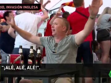 """Los aficionados ingleses ya llenan las calles de Madrid: """"Llevamos 15 cervezas"""""""