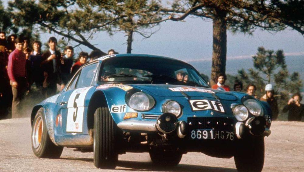 Jean Luc Therier en el Rally de Portugal de 1973