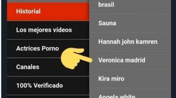 Captura de las búsquedas de una página porno