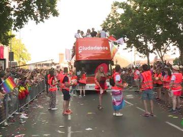 Ciudadanos se podría quedar fuera del Orgullo en Madrid si pacta con Vox