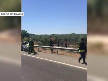 Un conductor logra grabar los instantes posteriores al accidente de José Antonio Reyes