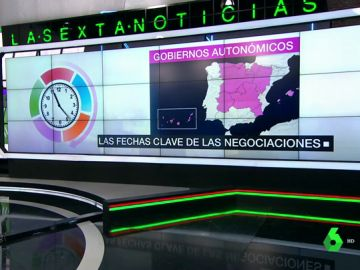Estas son las fechas clave de las negociaciones para formar gobiernos municipales y autonómicos