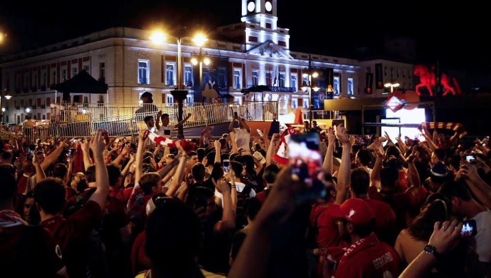 Celebración de la final de la Champions en Madrid