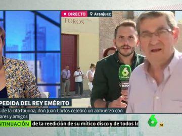 El periodista Antonio Campos durante una conexión de Liarla Pardo
