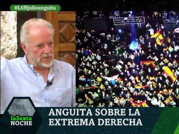 """Julio Anguita: """"Vox no es fascismo, el fascismo tiene un barniz de política social y estos señores no"""""""