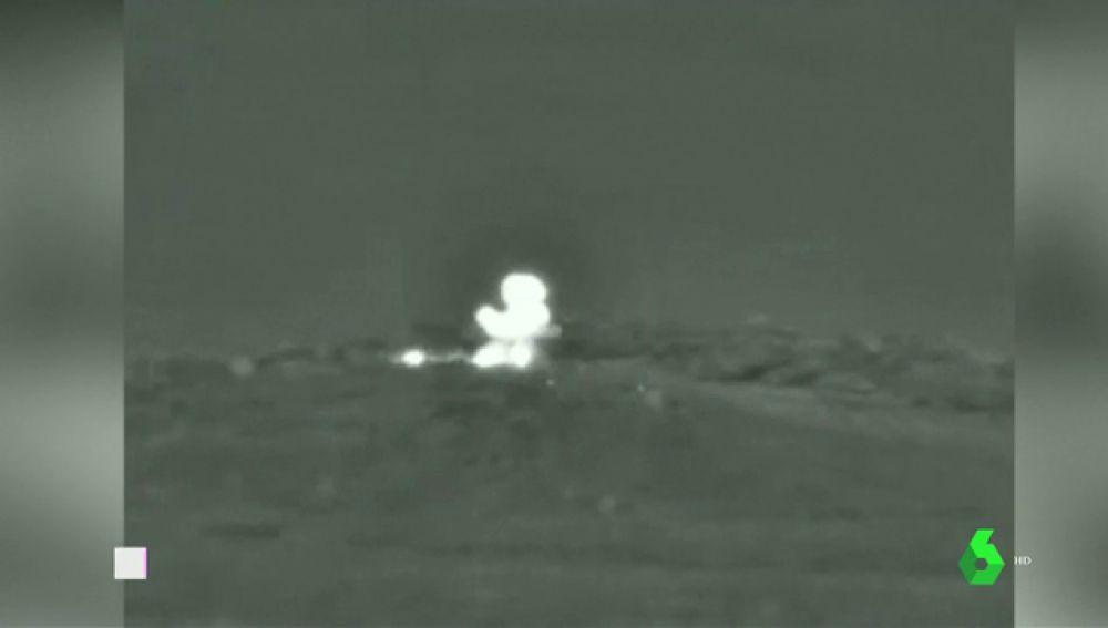 Imagen de un bombardeo de Israel