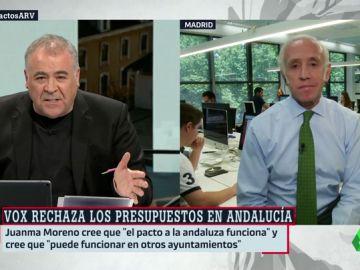 """Eduardo Inda: """"Vox está dispuesto a forzar que haya un gobierno de izquierdas en Madrid y luego presentar una moción de censura"""""""