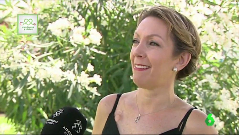 Pilar, una paciente que superó un cáncer de mama