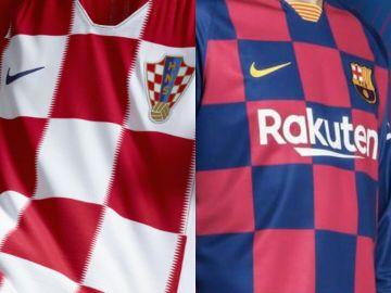 Las camisetas de Croacia y del Barcelona