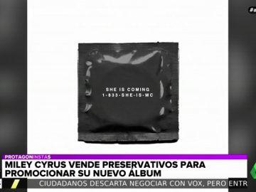 Miley Cyrus sorprende de nuevo: vende preservativos para promocionar su nuevo disco, 'She is coming'