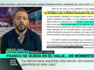 """Antonio Maestre: """"La democracia española está siendo demasiado garantista con la familia Franco"""""""