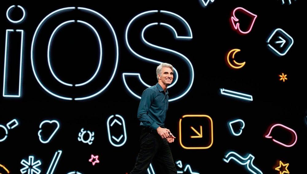 iOS 13 en la keynote de Apple