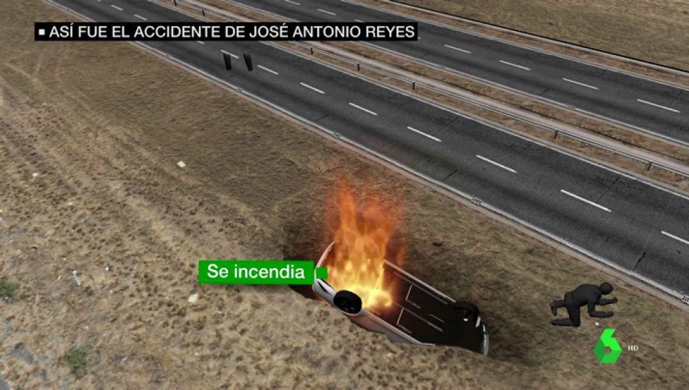 así fue el accidente de Reyes