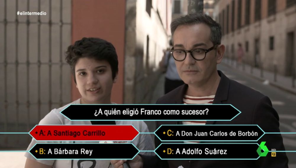 """Esto es lo que los jóvenes españoles saben de Franco: """"Eligió a Santiago Carrillo como sucesor y le asesinaron en una cafetería"""""""