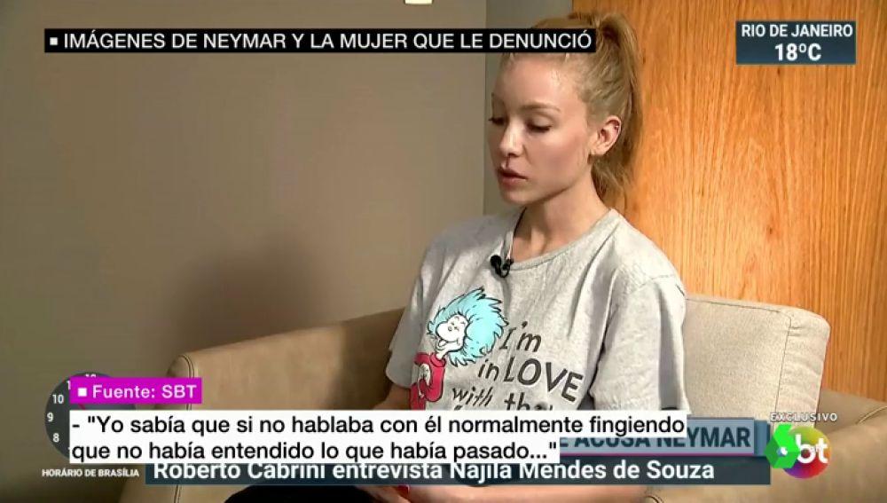 """La modelo que denunció a Neymar habla por primera vez: """"Fui víctima de agresión y de violación"""""""