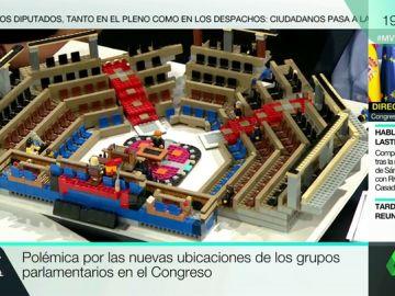 Polémica por las nuevas ubicaciones de los grupos parlamentarios en el Congreso
