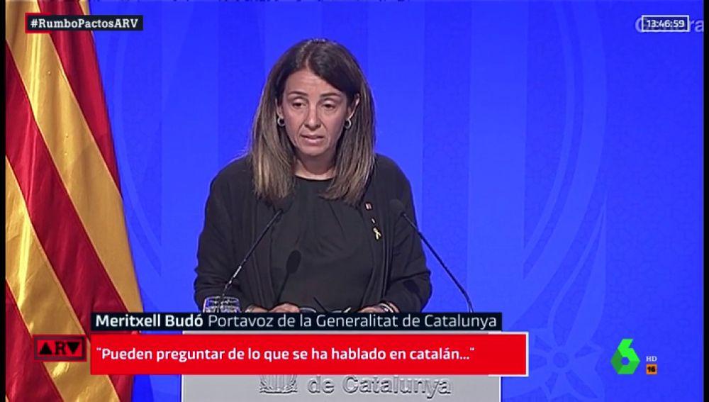 Meritxell Budó, portavoz de la Generalitat de Cataluña