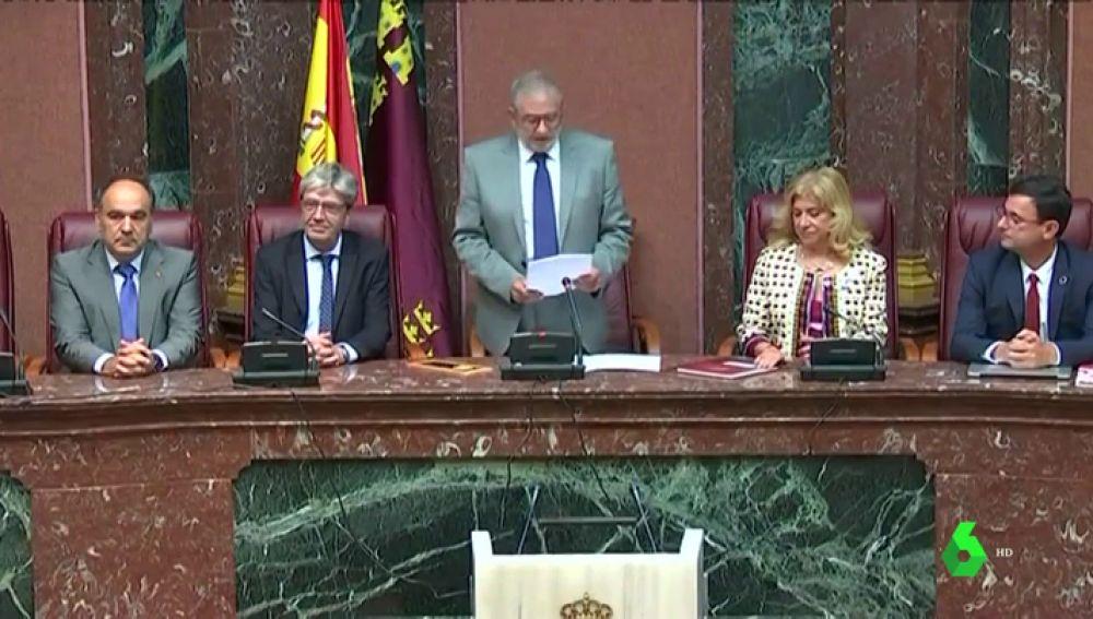Alberto Castillo (Cs), elegido presidente de la Asamblea de Murcia con los votos del PP y Ciudadanos