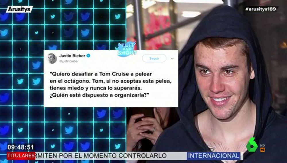 Justin Bieber desafía a Tom Cruise a un duelo