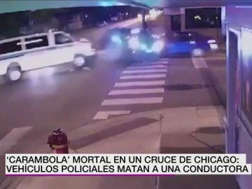 Muere una conductora tras ser arrollada por dos coches patrulla en un cruce de Chicago