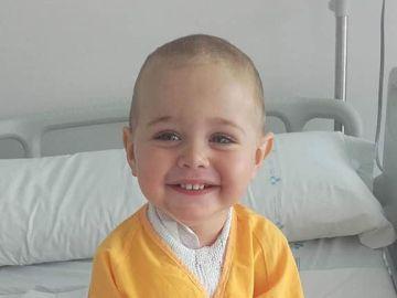 El pequeño Rafa en el hospital