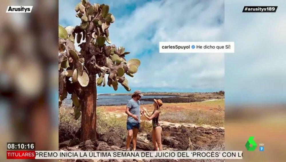 Carles Pujol y Vanesa Lorenzo sorprenden con la pedida de matrimonio más original