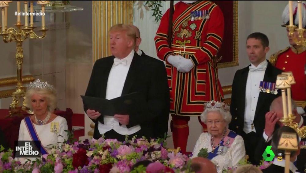 Trump explica 'a lo Chicote' cuál es el menú que ha preparado para sorprender a la reina de Inglaterra