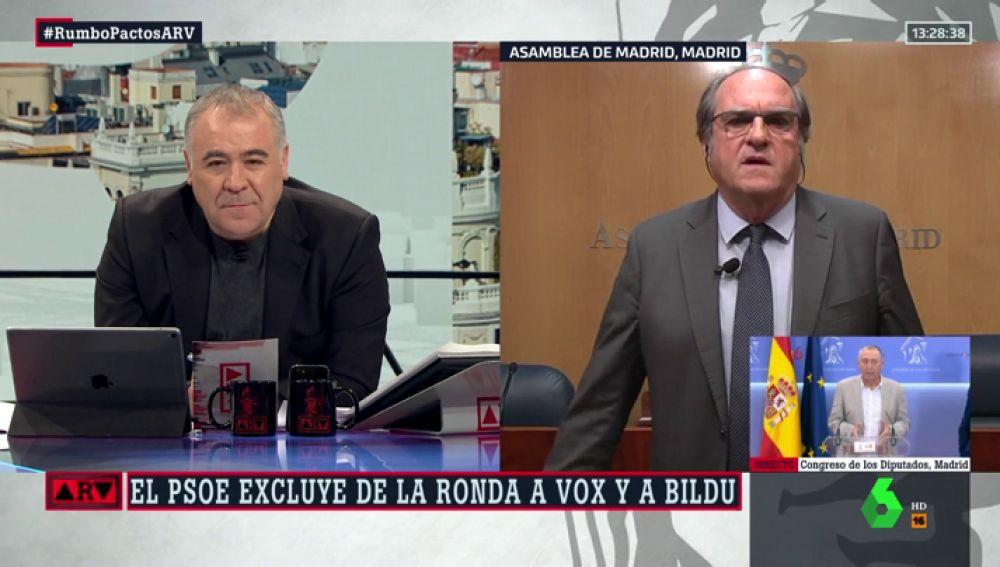 """Ángel Gabilondo (PSOE) no tira la tolla en Madrid: """"Está muy difícil, creo que ya hay un tripartito"""""""