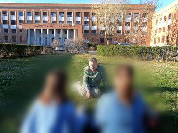 Dos chicas de la residencia universitaria Duque de Ahumada habla con Chicote