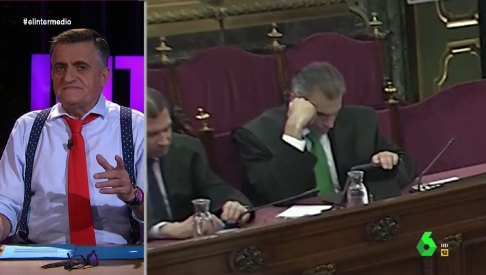 Javier Ortega Smith, acusación popular en el juicio del 'procés', se queda dormido en la sesión final