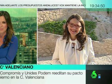 """Mónica Oltra, tras el nuevo pacto del Botànic en Valencia: """"Nuestro gobierno es exportable, es plural y es el mejor que ha tenido esta comunidad"""""""