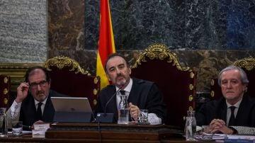 El magistrado Manuel Marchena en el juicio del procés.