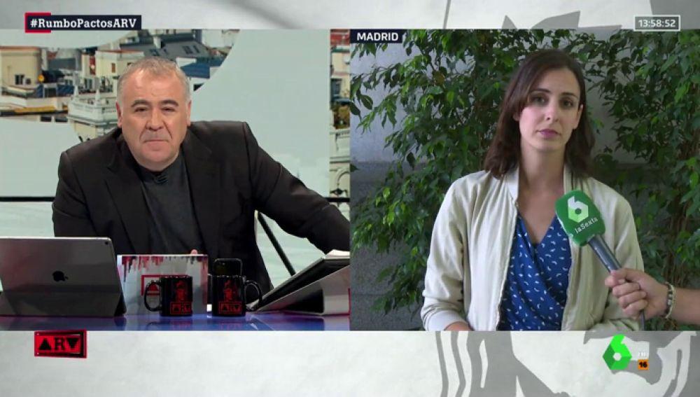 """Rita Maestre (Más Madrid) tacha de """"nocivo"""" el pacto de PP, Cs y Vox en Madrid: """"A mí, como mujer, me asusta"""""""