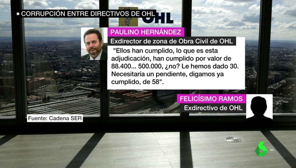 VÍDEO REEMPLAZO | Las grabaciones que prueban los sobornos de OHL a altos cargos y políticos de toda España