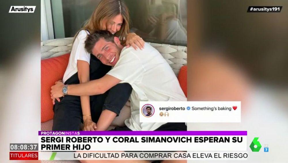 Sergi Roberto y Coral Simanovich serán padres