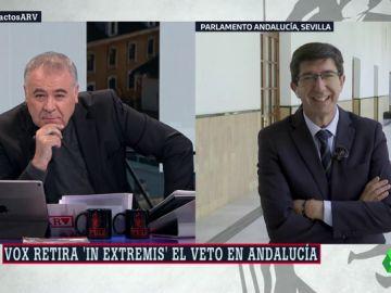 """Juan Marín (Cs): """"A Susana Díaz solo le ha importado su puesto y le ha dolido no tumbar estos presupuestos"""""""