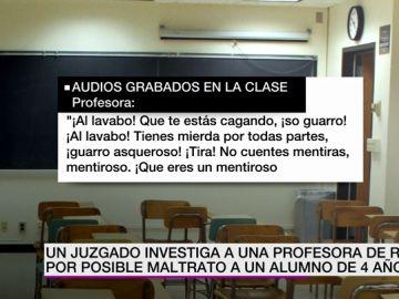 Investigan a una profesora por maltrato a un alumno de cuatro años: una grabadora captó los insultos de la docente