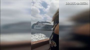 Pánico en el ferry que une Dénia y Palma al estar a punto de chocar con otro barco